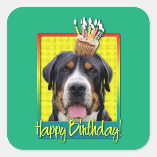 Birthday Cupcake - Greater Swiss Mountain Dog Stickers