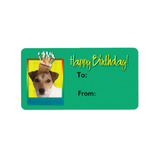 Birthday Cupcake - Jack Russell Custom Address Labels