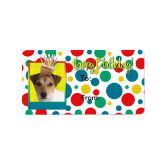 Birthday Cupcake - Jack Russell Personalized Address Label