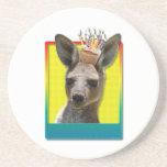 Birthday Cupcake - Kangaroo Coasters