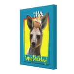 Birthday Cupcake - Kangaroo Gallery Wrap Canvas