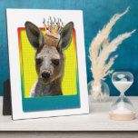 Birthday Cupcake - Kangaroo Photo Plaque