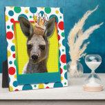 Birthday Cupcake - Kangaroo Photo Plaques