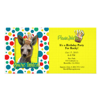 Birthday Cupcake - Kangaroo Personalized Photo Card