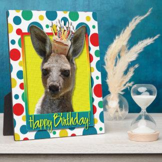Birthday Cupcake - Kangaroo Plaques