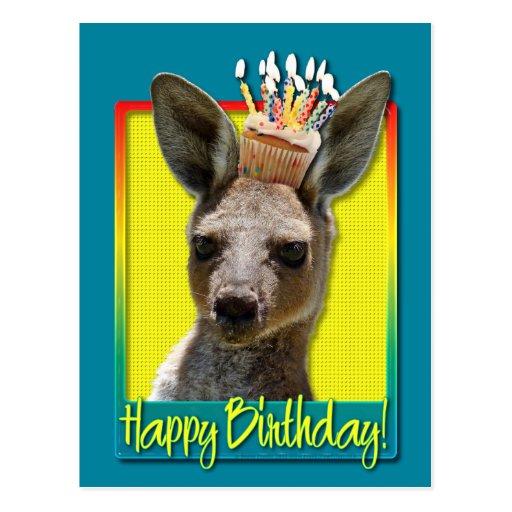 Birthday Cupcake - Kangaroo Postcards