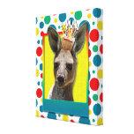 Birthday Cupcake - Kangaroo Stretched Canvas Print
