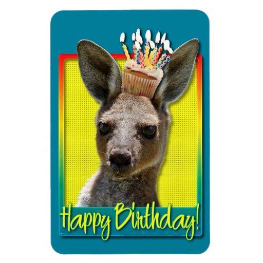 Birthday Cupcake - Kangaroo Vinyl Magnets