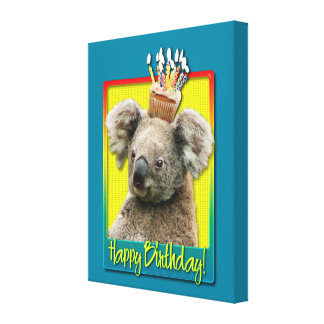 Birthday Cupcake - Koala Canvas Prints