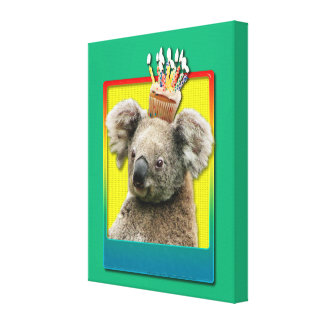Birthday Cupcake - Koala Canvas Print