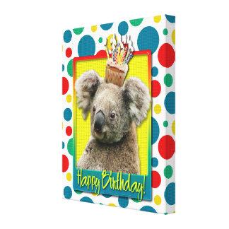 Birthday Cupcake - Koala Gallery Wrapped Canvas