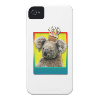 Birthday Cupcake Koala iPhone 4 Case-Mate Case