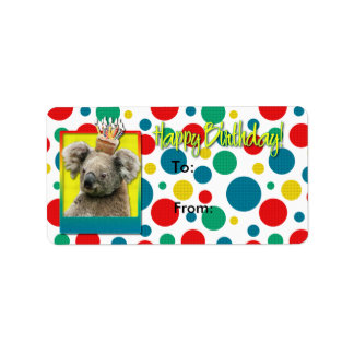 Birthday Cupcake - Koala Label