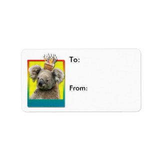 Birthday Cupcake Koala Label