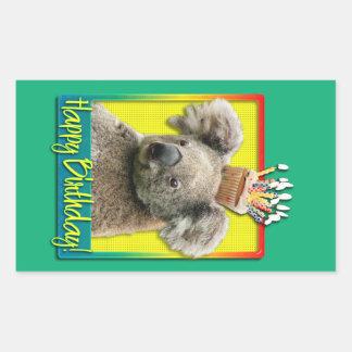 Birthday Cupcake - Koala Rectangular Sticker