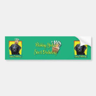 Birthday Cupcake - Labrador - Black - Gage Bumper Sticker