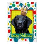 Birthday Cupcake - Labrador - Black - Gage Card