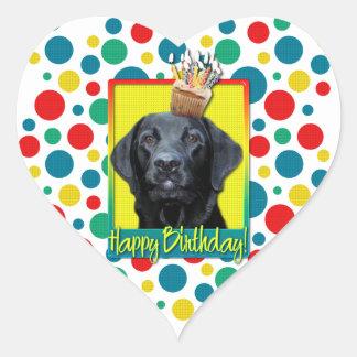 Birthday Cupcake - Labrador - Black - Gage Heart Sticker