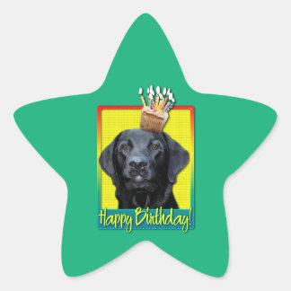 Birthday Cupcake - Labrador - Black - Gage Star Sticker