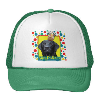 Birthday Cupcake - Labrador - Black - Gage Trucker Hat