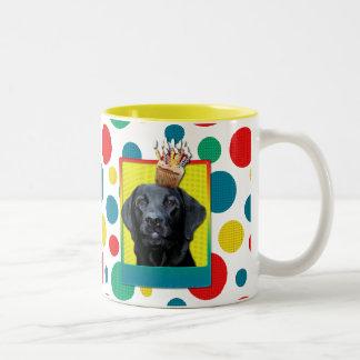 Birthday Cupcake - Labrador - Black - Gage Two-Tone Coffee Mug