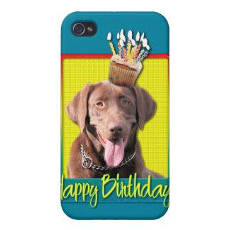 Birthday Cupcake - Labrador - Chocolate Cases For iPhone 4