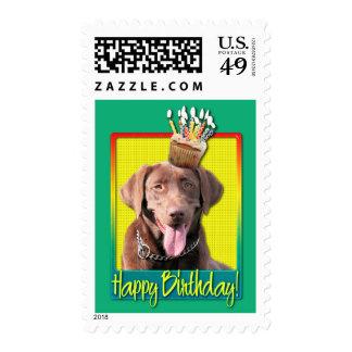 Birthday Cupcake - Labrador - Chocolate Postage