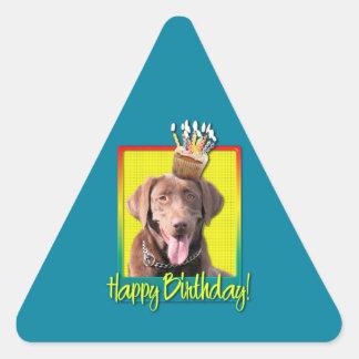 Birthday Cupcake - Labrador - Chocolate Triangle Stickers