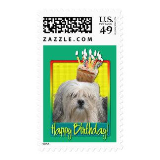 Birthday Cupcake - Lowchen Stamps