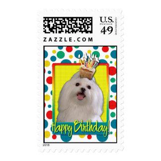 Birthday Cupcake - Maltese Postage Stamps