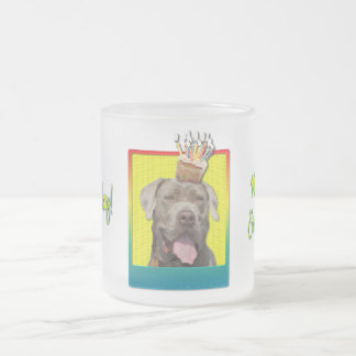 Birthday Cupcake - Mastiff - Snoop Frosted Glass Coffee Mug