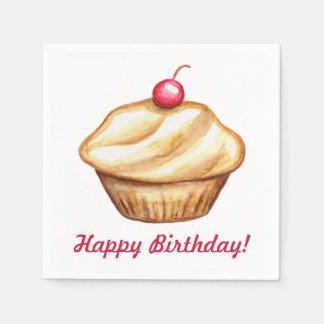 Birthday Cupcake Napkins
