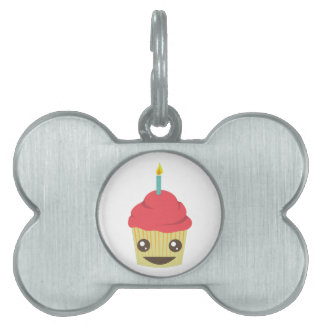 Birthday Cupcake Pet Name Tag