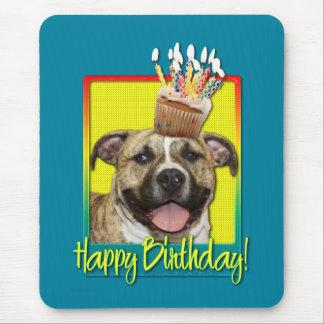 Birthday Cupcake - Pitbull - Tigger Mouse Pad