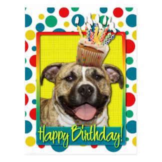 Birthday Cupcake - Pitbull - Tigger Postcard