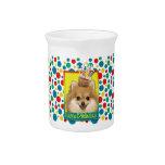 Birthday Cupcake - Pomeranian Beverage Pitchers