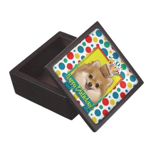 Birthday Cupcake - Pomeranian Premium Trinket Boxes