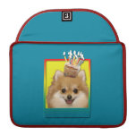 Birthday Cupcake - Pomeranian Sleeve For MacBooks