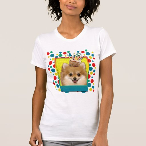 Birthday Cupcake - Pomeranian T-shirts