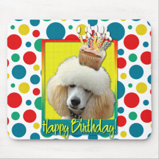 Birthday Cupcake - Poodle - Apricot Mouse Pad