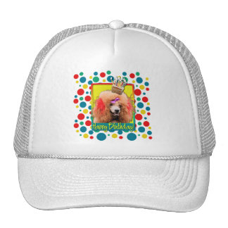 Birthday Cupcake - Poodle - Red Trucker Hat