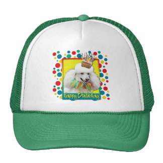 Birthday Cupcake - Poodle - White Trucker Hat