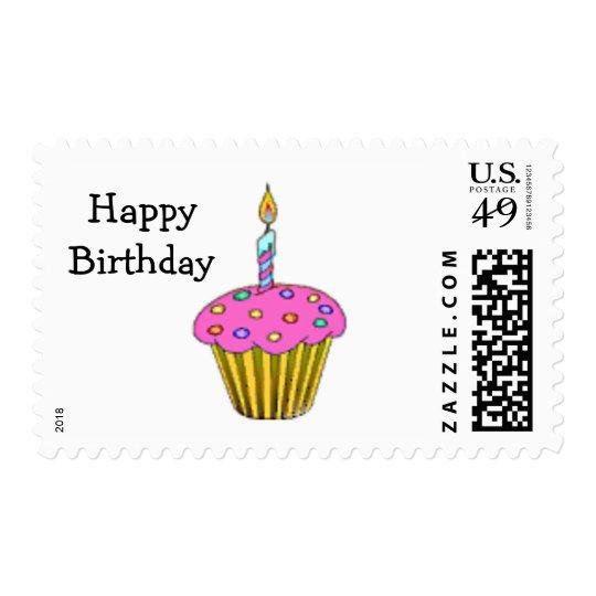 Birthday Cupcake Postage