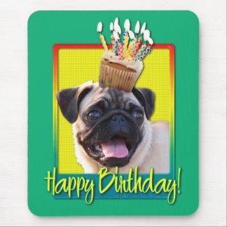 Birthday Cupcake - Pug Mouse Pad