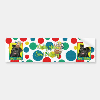 Birthday Cupcake - Pug - Ruffy Bumper Sticker