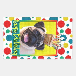 Birthday Cupcake - Pug Stickers