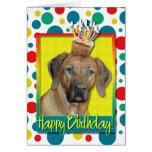 Birthday Cupcake - Rhodesian Ridgeback Cards