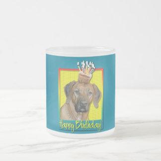 Birthday Cupcake - Rhodesian Ridgeback Frosted Glass Coffee Mug