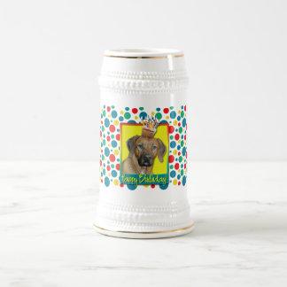 Birthday Cupcake - Rhodesian Ridgeback 18 Oz Beer Stein