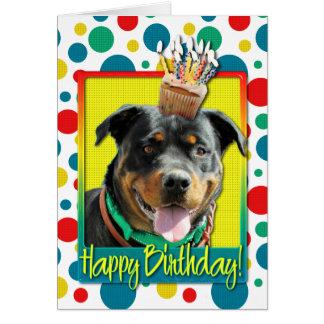 Birthday Cupcake - Rottweiler - SambaParTi Card